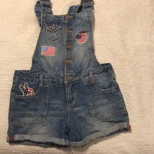 Patriotic Overall Shorts